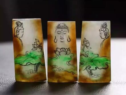 翡翠雕刻设计手稿,美艳动人,太难得一见了!